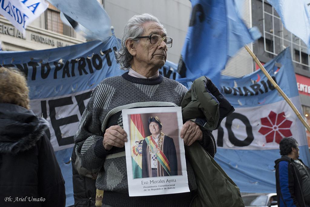 apoyo evo morales en Buenos Aires
