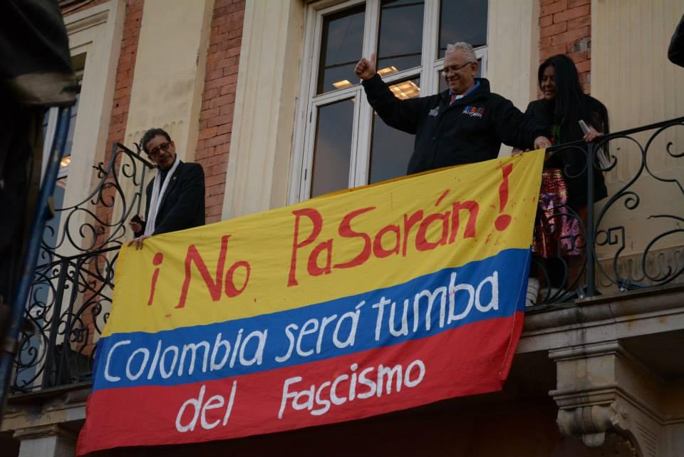 Manifestation à Bogota, photo Andrei Roa Saboya