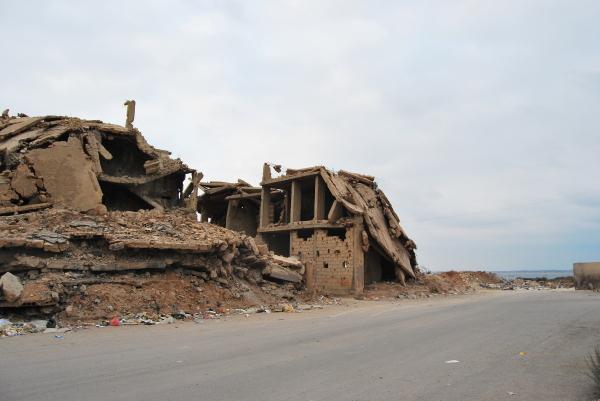 Foto di Irene Tuzi - Edifici danneggiati a Nahr el-Bared