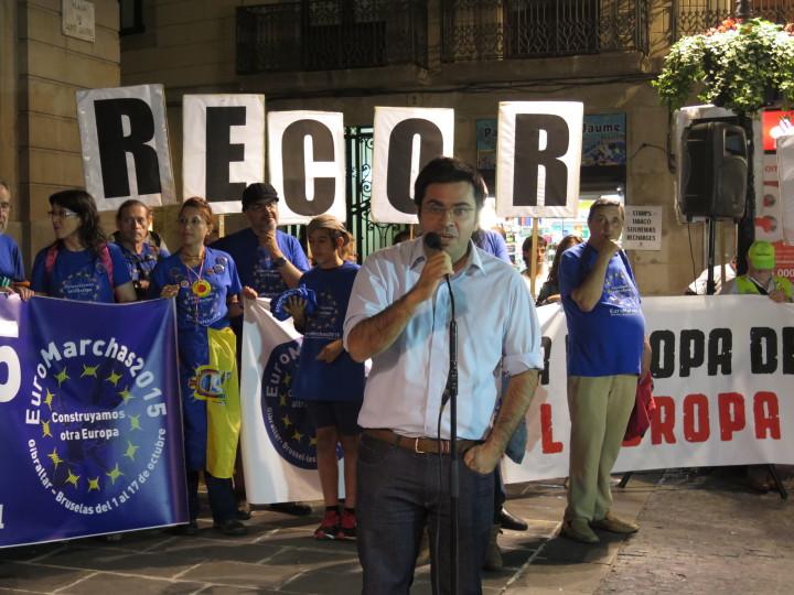 EuroMarchas_Primer Teniente de Alcalde de Barcelona, Sr. Pisarelo