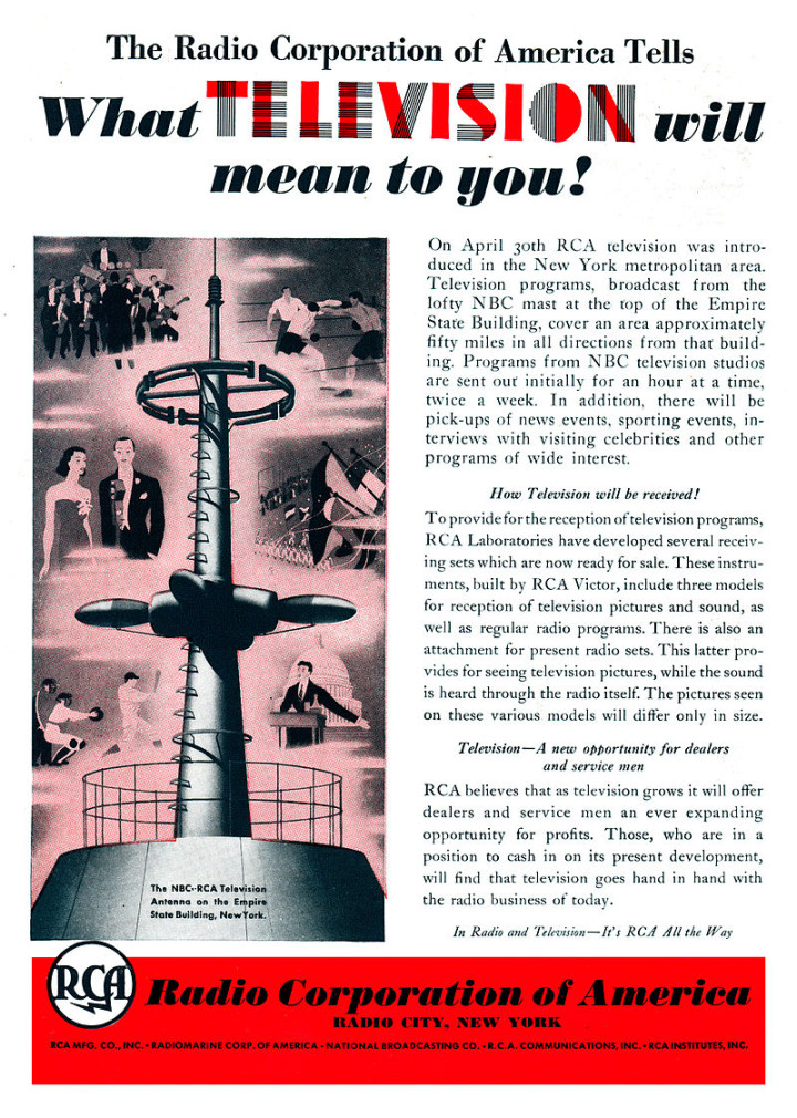 """1939 World's Fair Ad for """"Future of Television"""""""