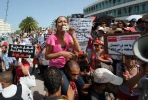 Donne in piazza contro la discriminazione