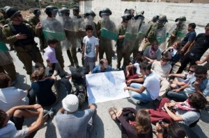 Palestine: International Activists Protest against Construction of the Apartheid Wall