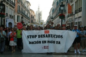 Guerra civil española contra desalojos de viviendas