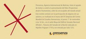 Dans le contexte du III Symposium Mondial est présenté le premier livre de Pressenza.