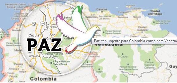 La paix : urgence tant pour la Colombie que le Venezuela