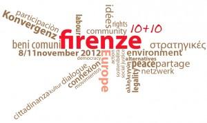 Florença 10 +10 a união de forças para uma  outra Europa!