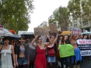 La Slutwalk parisienne du  6 octobre