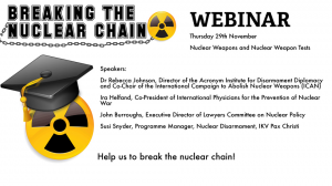 Breaking the Nuclear Chain campaign – New developments