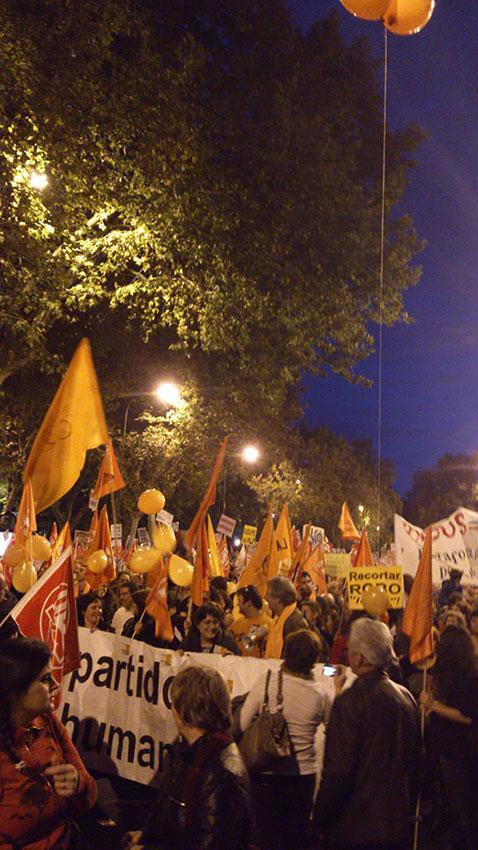 El Partido Humanista se suma a las movilizaciones en toda España
