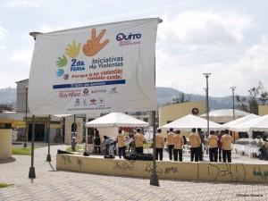 Deuxième foire des initiatives non-violentes à Quito