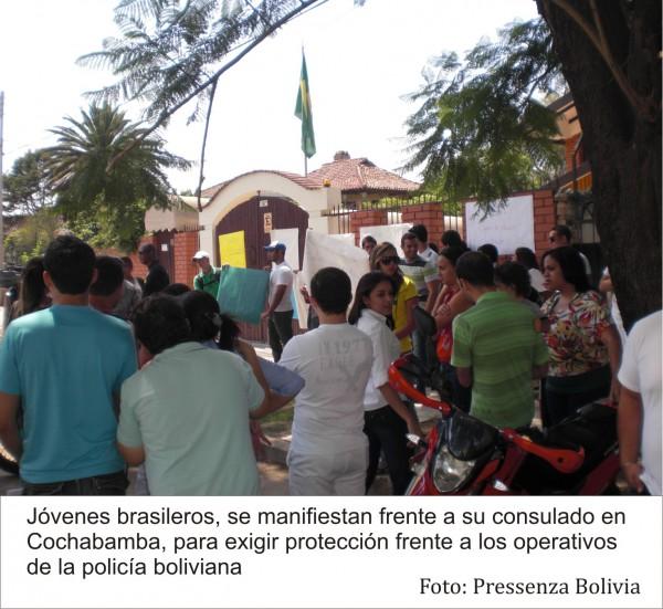 Estudiantes brasileros denuncian persecución policial en Bolivia
