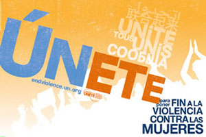 Mujeres y hombres juntos contra la violencia hacia la mujer