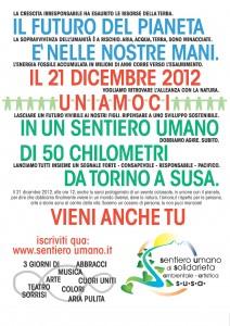 Il 21 dicembre catena umana da Torino alla Val Susa