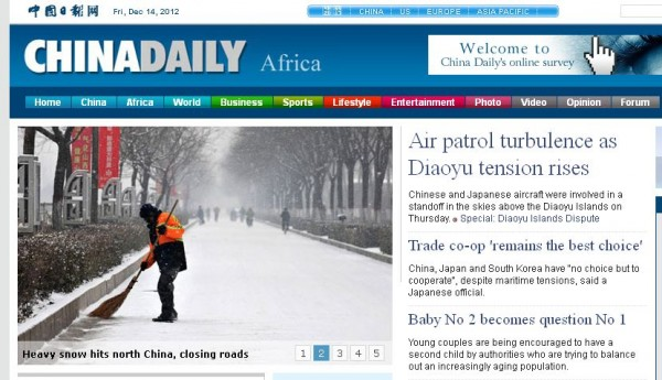 Il China Daily parla africano