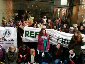 Over 40 UK Uncut actions across UK successfully target Starbucks over tax avoidance and impact of government cuts on women