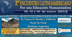 1º Encontro Latino-americano para uma Educação Humanizadora