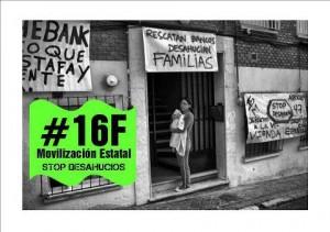 16F Manifestación por el derecho a la vivienda y contra el genocidio financiero
