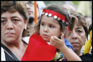 Marcha de los Pueblos en Santiago