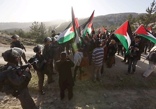 Israeli forces beat activists returning to Palestinian Village, Bab Al-Shams