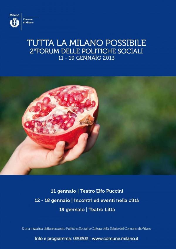 2° Forum delle Politiche Sociali del Comune di Milano