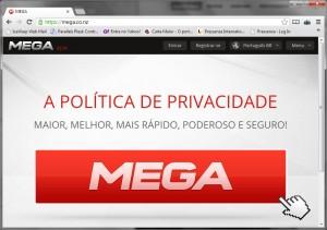 Mega entra no ar em português com 50 Giga grátis de armazenamento
