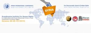 A Genève se réunit la Syrie démocratique, laïque et nonviolente