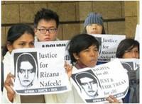 Hong Kong migrants, rights groups protest execution of Rizana Nafeek