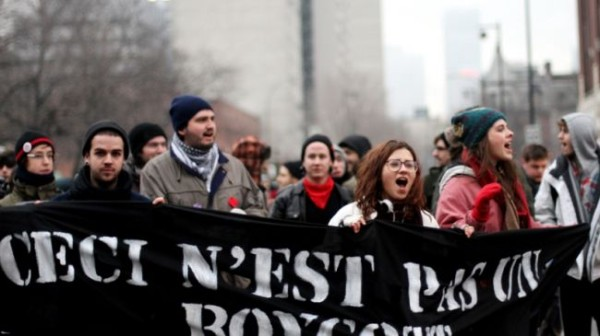 Studenti arrestati a Montreal durante una manifestazione