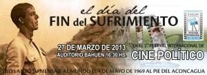 """El documental """"El día del fin del sufrimiento"""" en el auditorio Bauen"""