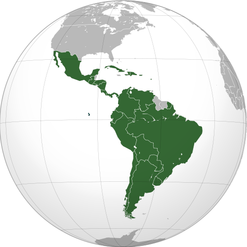 Mapa projecional da América Latina