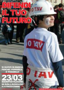 Difendi il tuo futuro: 23 marzo Manifestazione No Tav