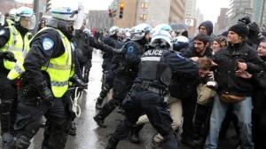 240 arresti in Canada in un raduno contro la brutalità della polizia