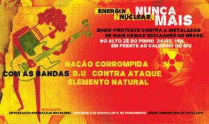 Brasil, Pernambuco: Show-protesto Energia Nuclear Nunca Mais no Alto Zé do Pinho