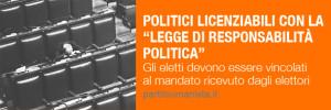 Politici licenziabili con la Legge di Responsabilità Politica
