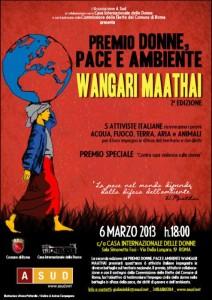 """L'Associazione """"A Sud"""" presenta il """"Premio Donne, Pace e Ambiente Wangari Maathai"""""""