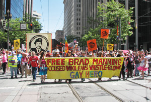 Bradley Manning has honour awarded and then withdrawn by San Francisco Pride Parade