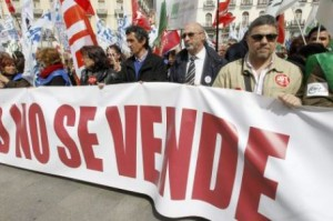 Manifestazione contro le politiche sanitarie a Madrid