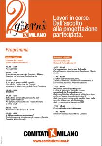 La 2 giorni dei Comitati x Milano