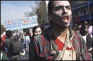 Fotorreportaje: Manifestación Día de los Trabajadores en Santiago.