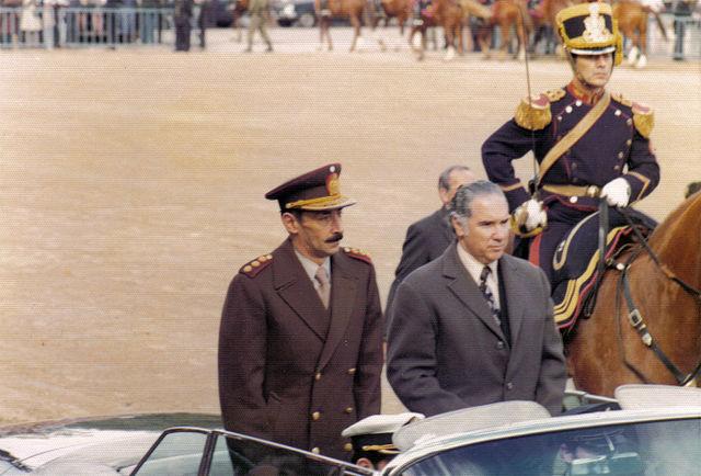 Ditador argentino Jorge Rafael Videla em 1976