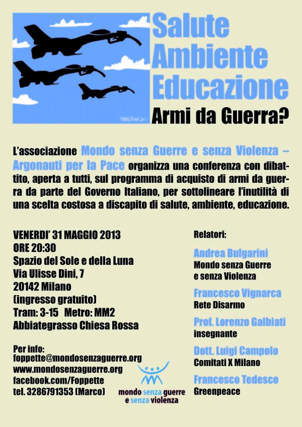 "Conferenza ""Salute Ambiente Educazione, Armi da Guerra?"""