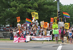 Mass Rally for Bradley Manning at Fort Meade on June 1st