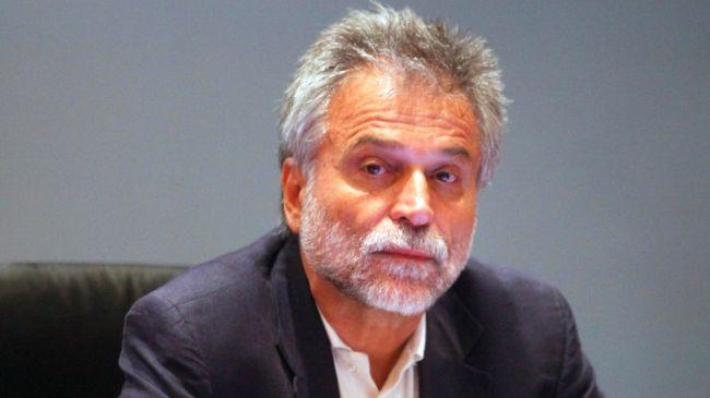 Greece's Democratic Left senior official Dimitris Hatzisokratis