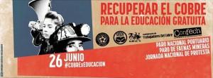 Estudantes, mineiros e portuários realizam protestos unitários no Chile