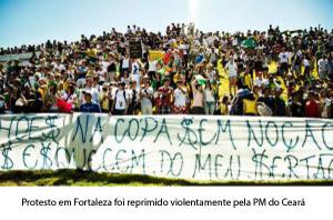 Protesto em Fortaleza termina em confronto de policiais e manifestantes