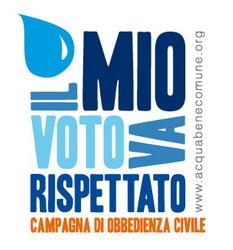 13 giugno 2011 – 13 giugno 2013: a due anni dai Referendum sull'acqua il voto va rispettato