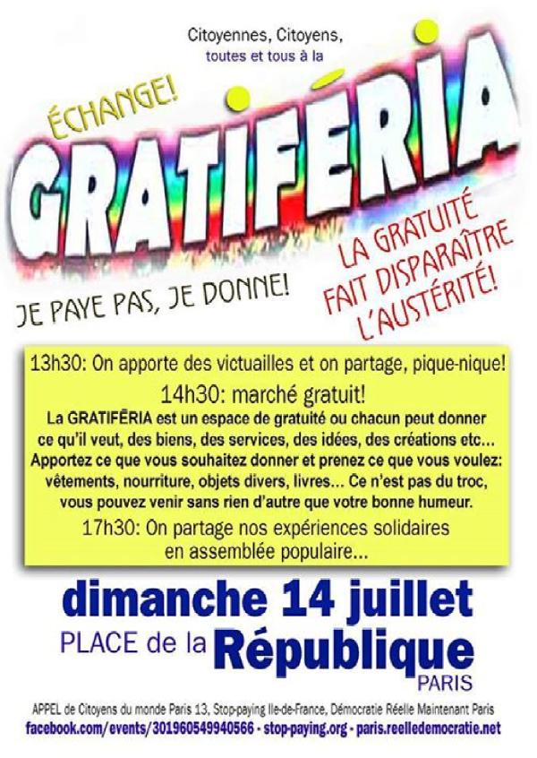 Fête nationale à République  «NON» à l'austérité !