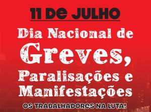 Dia nacional de protestos é convocado no Brasil para 11 de julho