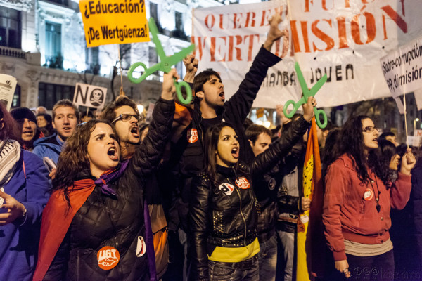 Spanish State: They want us poor, silenced and straight